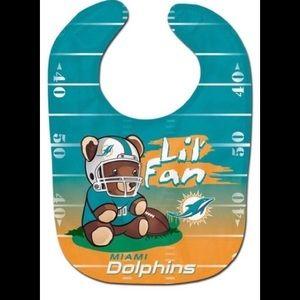 Miami Dolphins Infant Teddy Lil' Fan All Pro Bib